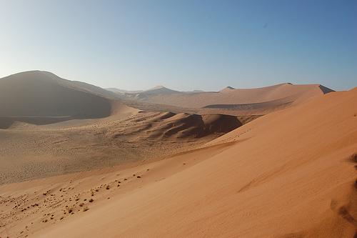 Desert landscape of Namibia