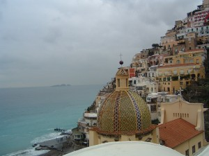 View of Positano from Le Sirenuse Hotel