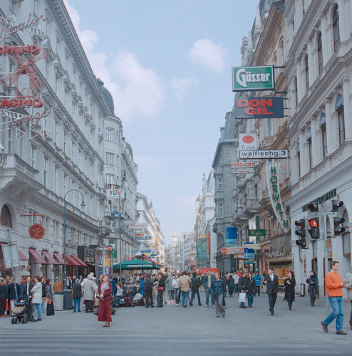 Pedestrian street in the center of Vienna