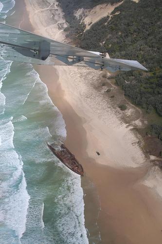 Fraser Island from a beach plane