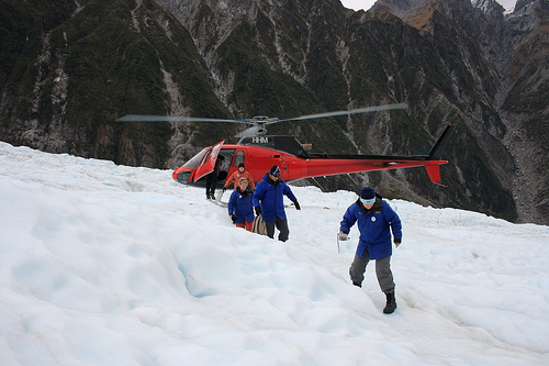 Heli-hike on Franz Josef Glacier