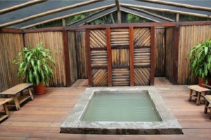 Private plunge pool in the Peruvian Rainforest