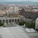 View of Ljubljana from atop Ljubljana Castle