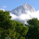 Mountains seen during the drive through Slovenia