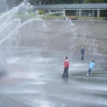 Kids playing in fountain, Seattle