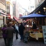 Restaurant district in Brussels